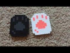 (27) Perler bead cat paws - YouTube