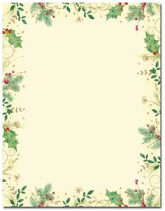 Holly Branches Letterhead