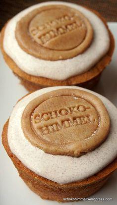 #Zimt-Muffins mit Zimtcreme und Zimt-Marzipan