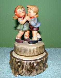 "Musical Box, Vintage Boy and Girl Dancing-spinning-Fuji Japan,1960s, 6""tall by streetcrossing2market for $16.00"
