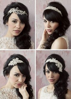 4 different ways to wewr bling in your hair for your big day