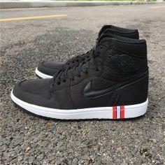 daa305bb1f972a Air Jordan 1 Paris Saint-Germain Black white Mens Basketball Shoes