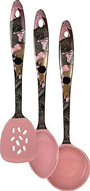 Pink Kitchen Utensil Sets | Pink Camo Kitchen Utensil Set by Rivers Edge 1918