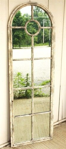 what a wonderful idea - garden mirror