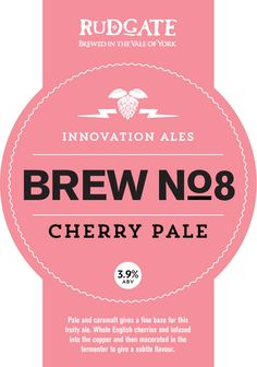 Rudgate Brewery - Cherry Pale Brewery, Ale, Cherry, British, Fruit, Flower, The Fruit, Ales, Prunus