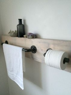Handcrafted Steel Pipe Towel Rail and Toilet Roll Holder Industrial/Modern/Urban rail under window Details about Handcrafted Steel Pipe Towel Rail and Toilet Roll Holder Industrial/Modern/Urban Diy Industrial Interior, Industrial Toilets, Industrial Interior Design, Industrial House, Industrial Interiors, Modern Industrial, Industrial Bathroom, Home Design Diy, Toilet Roll Holder Industrial
