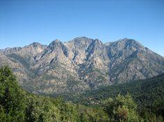 Vallée de Bocognano Corsica, Places Around The World, Around The Worlds, Photos Voyages, Mount Everest, Fields, River, Island, Mountains