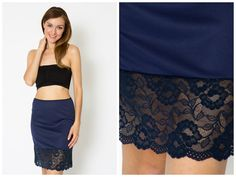 Hey, I found this really awesome Etsy listing at https://www.etsy.com/listing/162436076/navy-lace-dress-extender-slip
