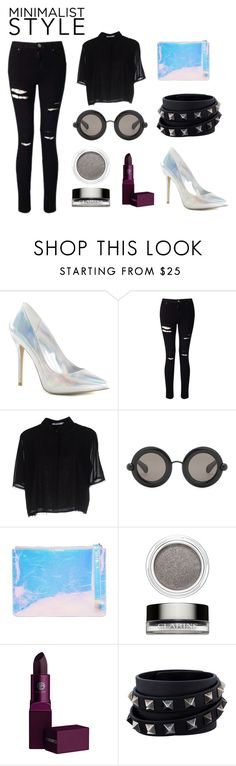 """""""Focus on the shoes"""" by vittakapa ❤ liked on Polyvore featuring Pleaser, Miss Selfridge, T By Alexander Wang, Christopher Kane, Kara, Clarins, Lipstick Queen and Valentino"""