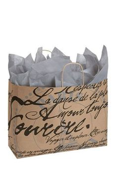 """Quick and Easy Gift Ideas from the USA Large Paris Script Paper Shopping Bag. 16 """"X 6 """" X 12 """" (Vogue) • Premium Original Design Kraft Ba http://welikedthis.com/large-paris-script-paper-shopping-bag-16-x-6-x-12-vogue-%e2%80%a2-premium-original-design-kraft-ba #gifts #giftideas #welikedthisusa"""