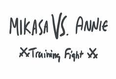 Mikasa & Annie - Attack on Titan / Shingeki no Kyojin Aot Gifs, Android Gif, Dbz, Snk Annie, Attack On Titan Meme, Eren X Mikasa, Aot Memes, Anime Crossover, Ereri
