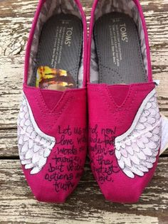 Hey, I found this really awesome Etsy listing at https://www.etsy.com/listing/130410065/custom-hand-painted-toms-on-the-wings-of