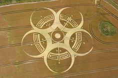"""Crop Circles: Renne-Le- Chateau and """"The Metatron Cube"""" Crop Circles, Aliens And Ufos, Ancient Aliens, Alien Art, Circle Design, Circle Art, Grid Design, Flower Of Life, Creepy"""