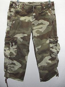Women's Gap Camo Cargo Capri Size 6 with Drawstring Detail Perfect for Spring | eBay