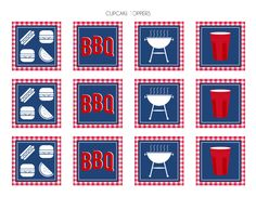 Free SOLO cup inspired BBQ printable decorations!   CatchMyParty.com