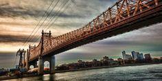 Queensboro Bridge in the Light Before Dawn, New York City