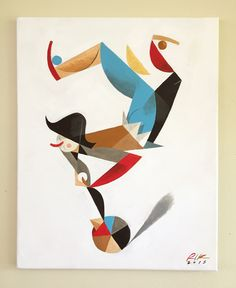 """Il sonno dell'acrobata"" (sleep acrobat)Acrylic on canvas, 40x50cmRiccardo Guasco 2015"