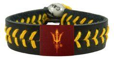 Arizona State Sun Devils Pitchfork Logo Team Color Baseball Bracelet