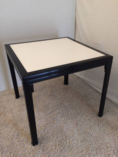 James Mont Leather-Top Card Table For Sale at 1stdibs