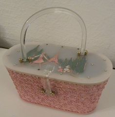 1950's Rhinestone Lucite Purse Handbag Jerri's Original