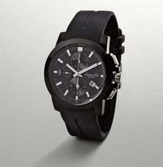 Black Watch With Rubber Strap, Kenneth Cole New York $175