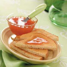 Orange Rhubarb Spread Recipe- Recipes  This tangy spread is easy to make and tastes especially good on hot, buttered cinnamon toast. The recipe makes enough to have on hand well beyond the growing season. —Betty Nyenhuis, Oostburg, Wisconsin