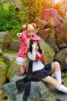 Rei and Usagi by Snejinochi.deviantart.com on @deviantART