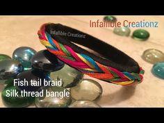 Silk thread weaved bangle design making Silk Thread Bangles Design, Thread Jewellery, Diy Jewellery, Hand Embroidery Patterns Flowers, Jewelry Patterns, Diy Earrings, Bangle Bracelets, Handmade Jewelry, Jewelry Making