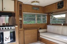 Embrace your vintage campers vintage/original look and work with it. 1968 Holiday Rambler.