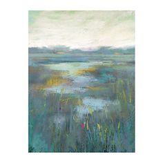 Teal Misty Moors Canvas Art Print | Kirklands