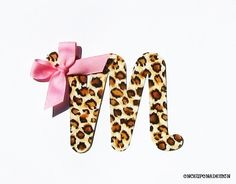 Cheetah Print Cursive Letter ...Fabric Iron On by OnceUponaDesign, $3.00