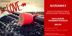 Win this swimmer speaker for your Valentine! Attach it to your bike, paddleboard, pocket, etc. Anywhere you want music without the worry of it being ruined by water. 2 for $99 for a limited time. #giveaway