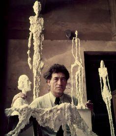 Alberto Giacometti Famous Paintings | Swiss artist Alberto Giacometti in his studio, 1952. (Photo by Gordon ...