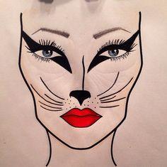 My Cat Halloween #facechart