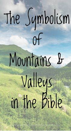 Mountains and valleys in the Bible and in life. How our Heavenly Father is paving the way over the mountains and loves you unfailingly along the way. Bible Study Plans, Bible Study Notebook, Bible Study Tools, Bible Study Journal, Scripture Study, Faith Scripture, Faith Verses, Scripture Reading, Christian Faith