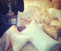 sparkly pillows@