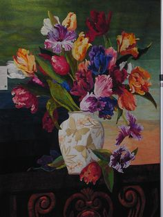 Best of Show ~ Tulips in a Vase made by Betty Sweet. 2013 ASQG show (California).