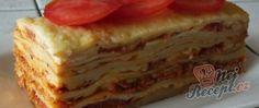 Lasagne s rajčaty, sýrem a šunkou Pizza, Desserts, Lasagna, Tailgate Desserts, Deserts, Postres, Dessert, Plated Desserts