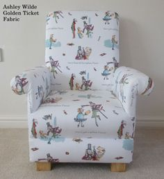 Roald Dahl Matilda Fabric Childs Chair Nursery Childrens Book Reading Kids Baby