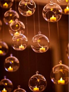 "72 SALE 3.5"" Hanging Orbs Terrariums Votive Holder Candle Holder Tea Light Centerpieces Wedding Cent"