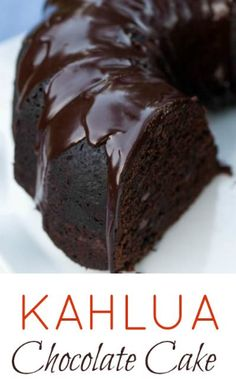 Kahlua Chocolate Cake delivers rich chocolate flavor with warm Kahlua undertones. Two recipes included — a scratch recipe and a doctored box recipe. Kahlua Chocolate Cake, Kahlua Cake, Chocolate Desserts, Kahlua Cupcakes, Chocolate Candy Cake, Chocolate Biscuit Cake, Chocolate Cake With Coffee, Chocolate Flavors, Coffee Cake