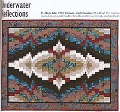 UNDERWATER REFLECTIONS from BARGELLO QUILTS