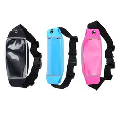 """Casual Waist Sport Running Pouch #PackBag #Sweatproof Purse Mobile Phone Wallet Zipper Case Holder with Belt for 1""""-5"""" Mobile Phones iPhone6 4.7"""" 5 5s 4s Samsung S5 S6"""