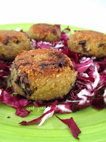 CoOk ZoNe: Polpette di quinoa con radicchio e cavolfiore Salmon Burgers, Food And Drink, Veggies, Healthy Recipes, Healthy Food, Menu, Cooking, Breakfast, Ethnic Recipes