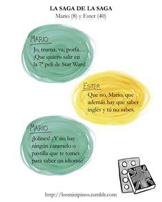 #losminipinos #esterytelling #niños #cosasdeniños #frases #quotes #starwars #friki #fan #english #idiomas