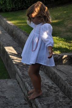 always love a cropped white dress for summer! #estella #kids #fashion