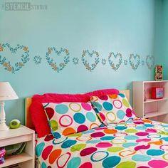 73 inspiring little girls room stencils from the stencil studio rh pinterest com