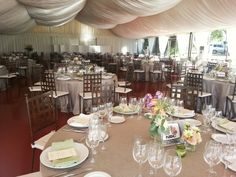 Banquete en carpa Castillo del Buen Amor