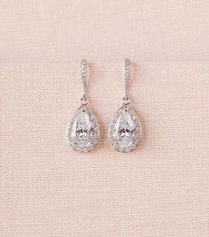 nice Crystal Bridal earrings  Wedding jewelry Swarovski, Crystal Wedding earrings Bridal jewelry, Ariel Drop Earrings by post_link