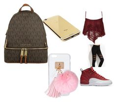"""😂😂😂😜😋☺😊😉😇"" by pettyallthe on Polyvore featuring beauty, NIKE, Goldgenie, Ashlyn'd and MICHAEL Michael Kors"